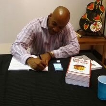 Kevin Sayles at a book signing for probate real estate sales 101